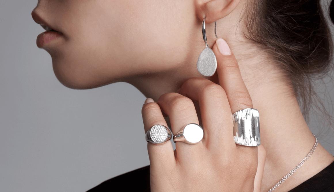σκουλαρίκια ασημένια